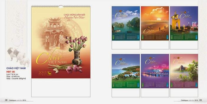 Catalogue - lịch treo tường